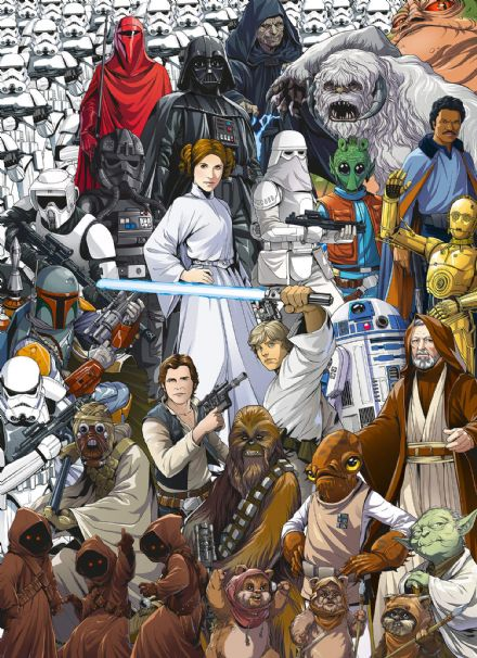 Star Wars Retro collage wall mural wallpaper